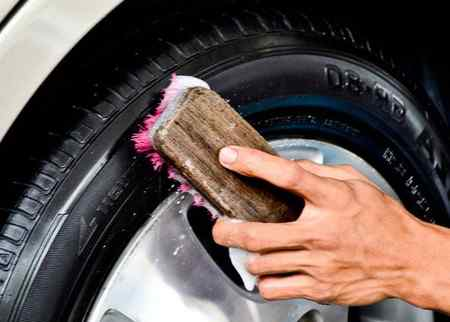Как чернить резину