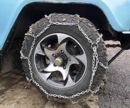 Как надеть цепи противоскольжения на автомобиль?