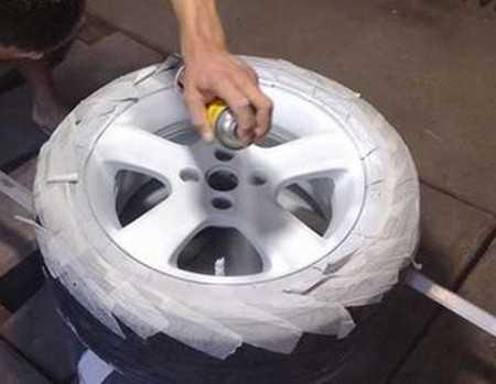 Покраска дисков автомобиля в гаражных условиях