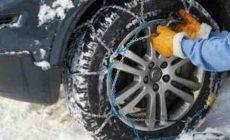 Как установить цепи на колеса
